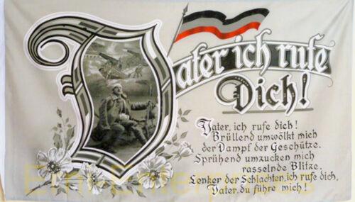 Fahne Flagge Militaria Vater ich rufe Dich Spruch Deutschland Historisch  # 365