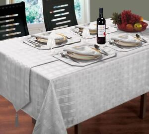 LUXURIOUS-MODERN-WOVEN-JACQUARD-CHECK-SILVER-TABLE-CLOTH-70-034-ROUND
