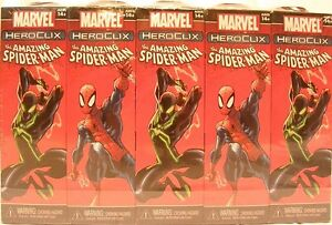 HeroClix-sealed-Brick-AMAZING-SPIDER-MAN-Marvel-5-figure-Booster-pack-x-10
