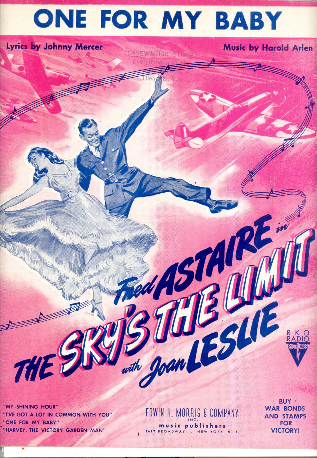 SKY'S THE LIMIT Sheet Music  One For My Baby  Frot Astaire