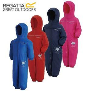 Regatta Puddle Paddle Kids Boys Girls Waterproof All In One Rain Suit RRP £35