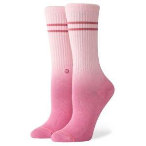 Stance-NEW-Women-039-s-Uncommon-Dip-Crew-Socks-Pink-BNWT