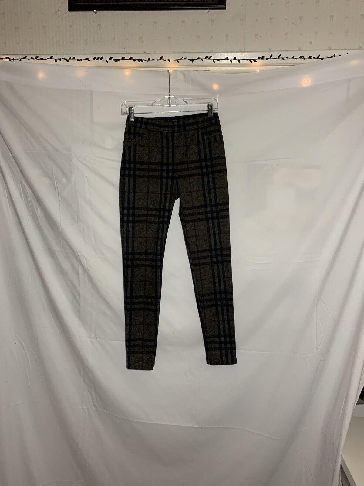 Sanctuary Olive Green Plaid Pants Size M - image 3