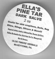 ELLA's PINE TAR DARK SALVE   FREE SHIPPING  2 oz. jar  BLACK DRAWING SALVE