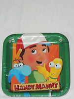 Handy Manny 8-paper Dessert Plates 7 Square ,3 Designs -party Supplies