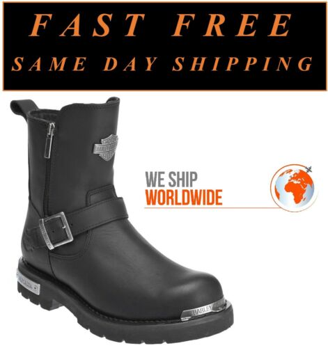"""Harley-Davidson® D96090 Men/'s 7.5/"""" Startex Leather Motorcycle Riding Boots"""