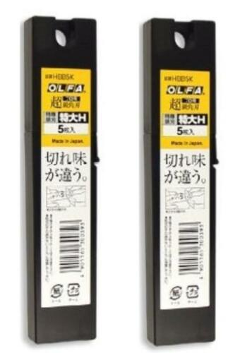 OLFA Genuine Replacement Blade Black Type 2 tubes 10 blades  25mm  HBB5K New JP
