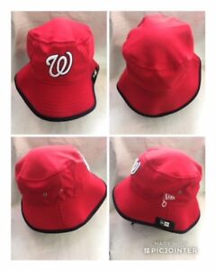 ff9750259e5 MLB Washington Nationals NEW ERA HEX TEAM BUCKET HAT Official TEAM ...