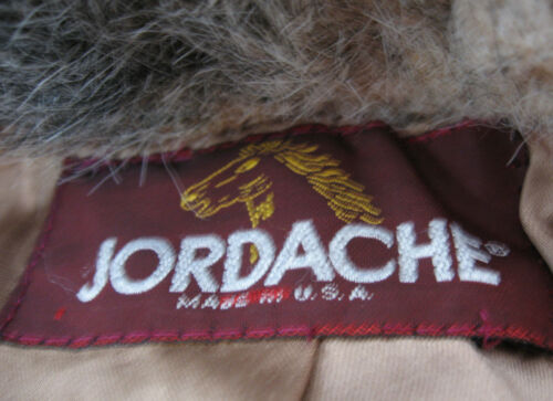 Usa In Made Lined Fur Grå 6 5 Jordache Faux Vintage Frakke Brun Size x7OUaq