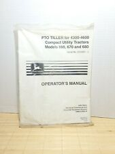 John Deere Pto Tiller Operator Manual For 4300 4600 Utility Tractors 660 670 680