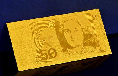 "★★ Allemagne / Germany : Billet Polymer "" Or "" Du 50 Deutsche Mark 1989 ★★"