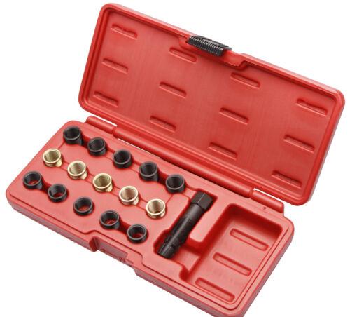 Zündkerzen Gewindereparatur Satz Gewinde zum reparieren Werkzeug 16tlg