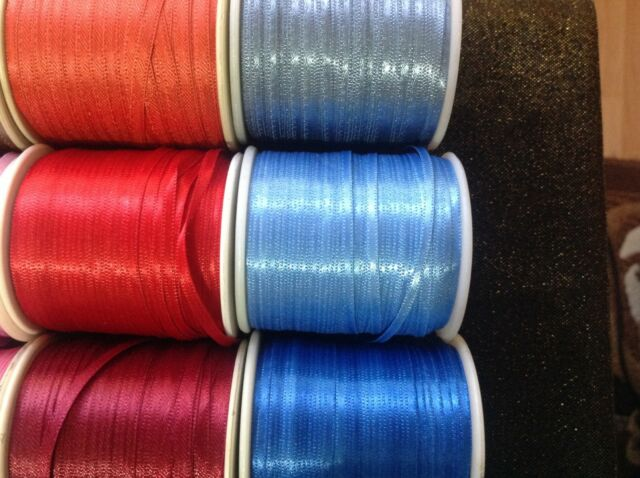 3 mm Double Faced Satin Ribbon,Sewing,Embroidery,Scrapbooking,Easter Art&Craft
