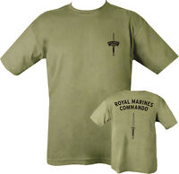 Military Printed Royal Marine Commando T Shirt 2 sided