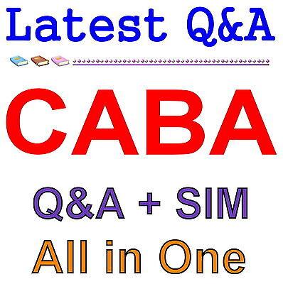 Certified Associate Business Analyst CABA Exam Q&A PDF+SIM