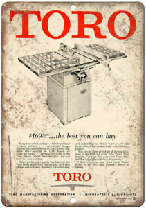 Toro-Vintage-Table-Saw-Ad-10-034-X-7-034-Reproduction-Metal-Sign-Z128