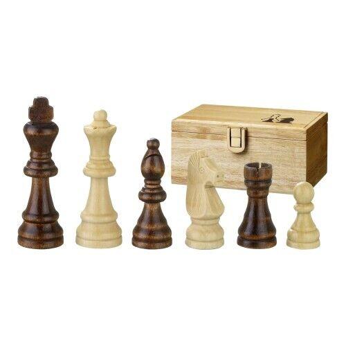 Staunton Holz Schachfiguren Könighöhe 89mm Remus