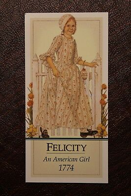 Authentic American Girl PLEASANT COMPANY FELICITY DOLL BOOKMARK PARTY FAVOR NEW