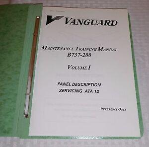 vintage vanguard airlines maintenance boeing 737 200 3 volumes rh ebay ie