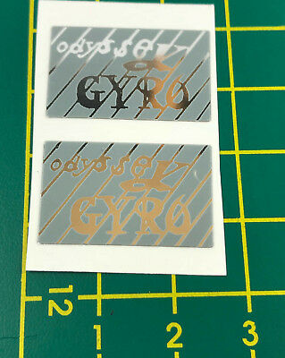 old school bmx decals stickers odyssey gyro cable decals pair navy blue chrome