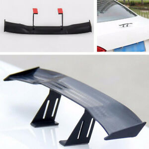 17cm Model Carbon Fiber twill Look GT Tiny Mini Rear Wing Spoiler Decoration New
