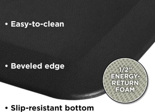 NewLife By GelPro Anti-Fatigue Kitchen Runner Comfort Floor Mat-20x72-Leather