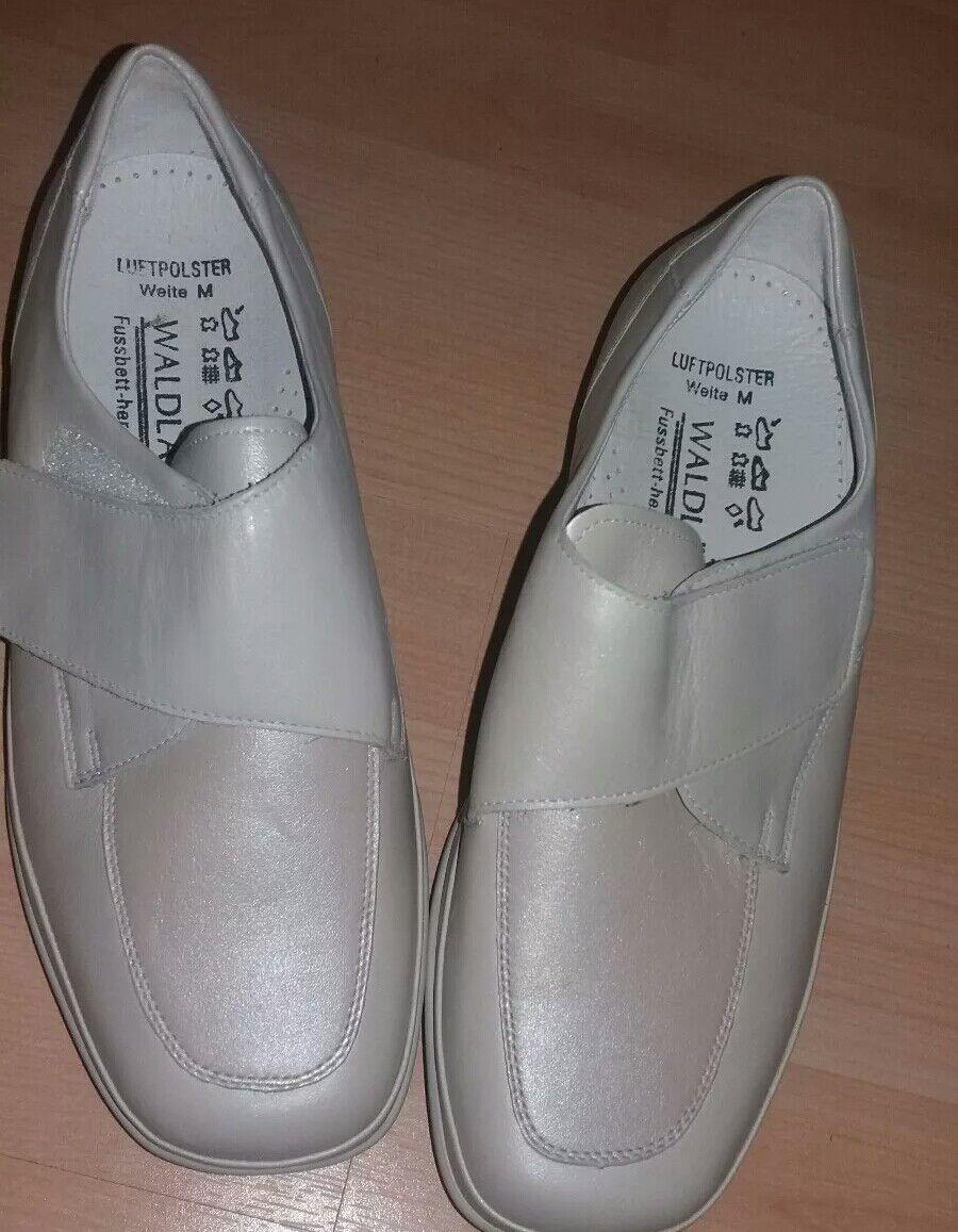 Damen Schuhe Halbschuhe 38 5 Weite M beige Waldläufer herausnehmbares Fußbett