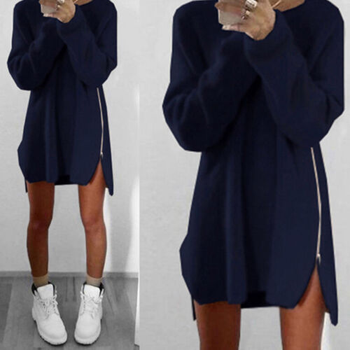 Oversized Women Long Sleeve Knit Cardigan JumperTops Loose Casual Sweaters Dress