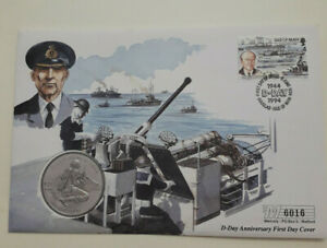 Isle-of-Man-Coin-D-Day-First-Day-Cover-Sir-Bertram-Ramsay-1-Crown