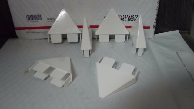 """12pc PVC Vinyl Fence Point Internal Fit for 7//8 x1 1//2/"""" picket Picket Caps"""