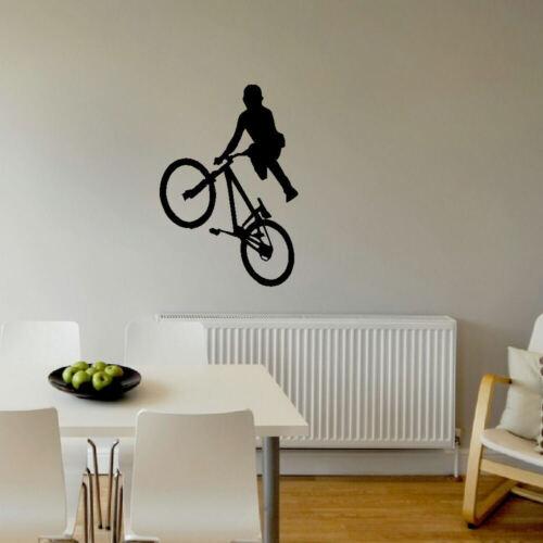 Grand vélo bmx enfants Mur Art Chambre Murale Autocollant Grand Autocollant Vinyle Transfert