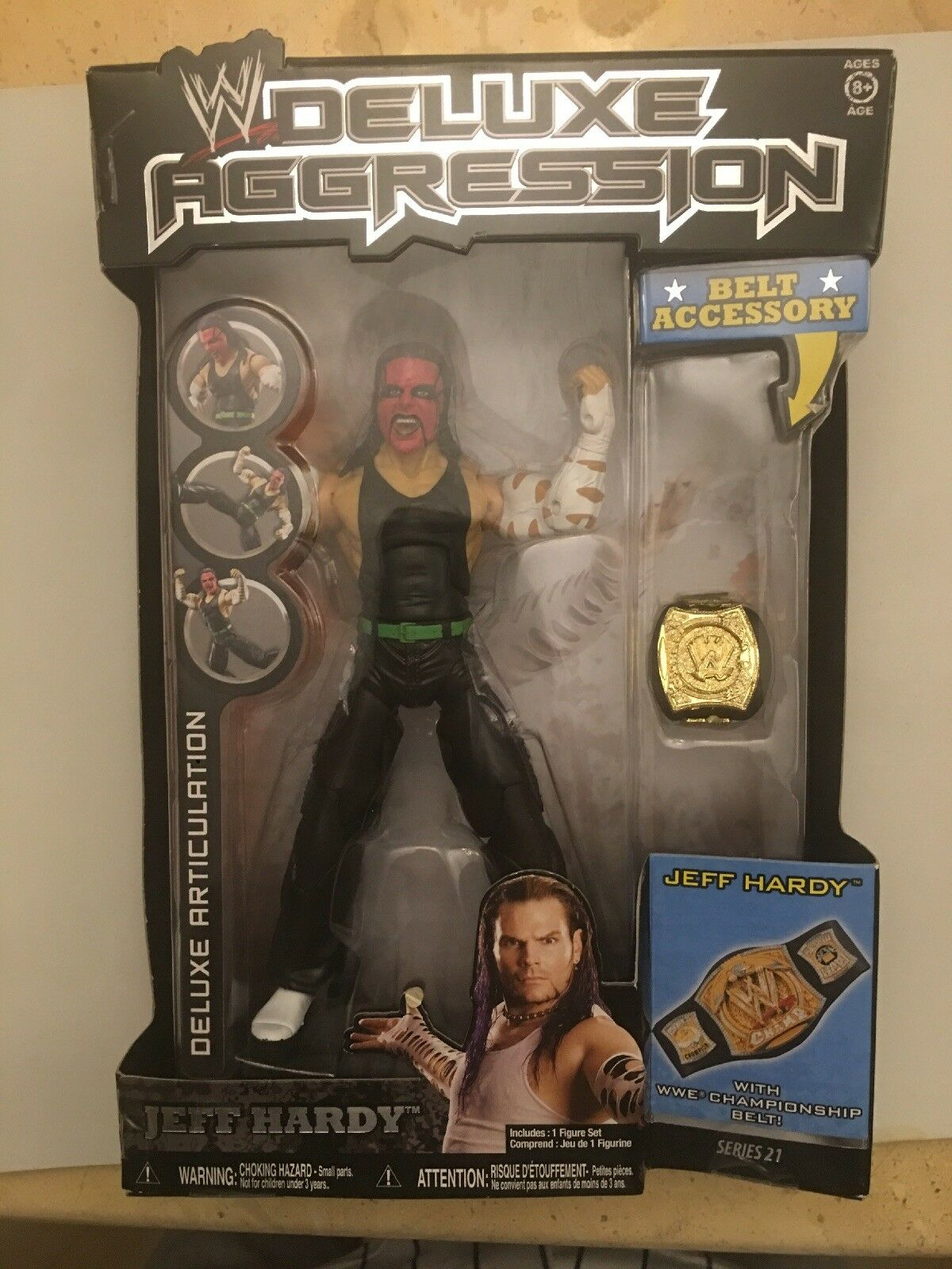 WWE Jakks Pacific Deluxe Aggression Series 21 Jeff Jeff Jeff Hardy with Face Paint & Belt 8f66f5