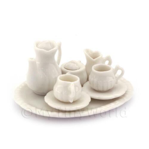 Maison de Poupées Miniature Victorien Blanc 6 Pièces Café Set