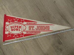 East Boston Massachusetts Mass MA High School Vintage Felt Pennant Flag Football