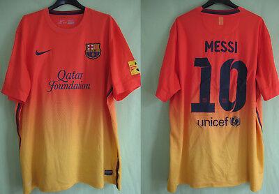 Maillot Barcelone 2012 Away Messi #10 Jersey Fc Barcelona Nike Vintage XL   eBay