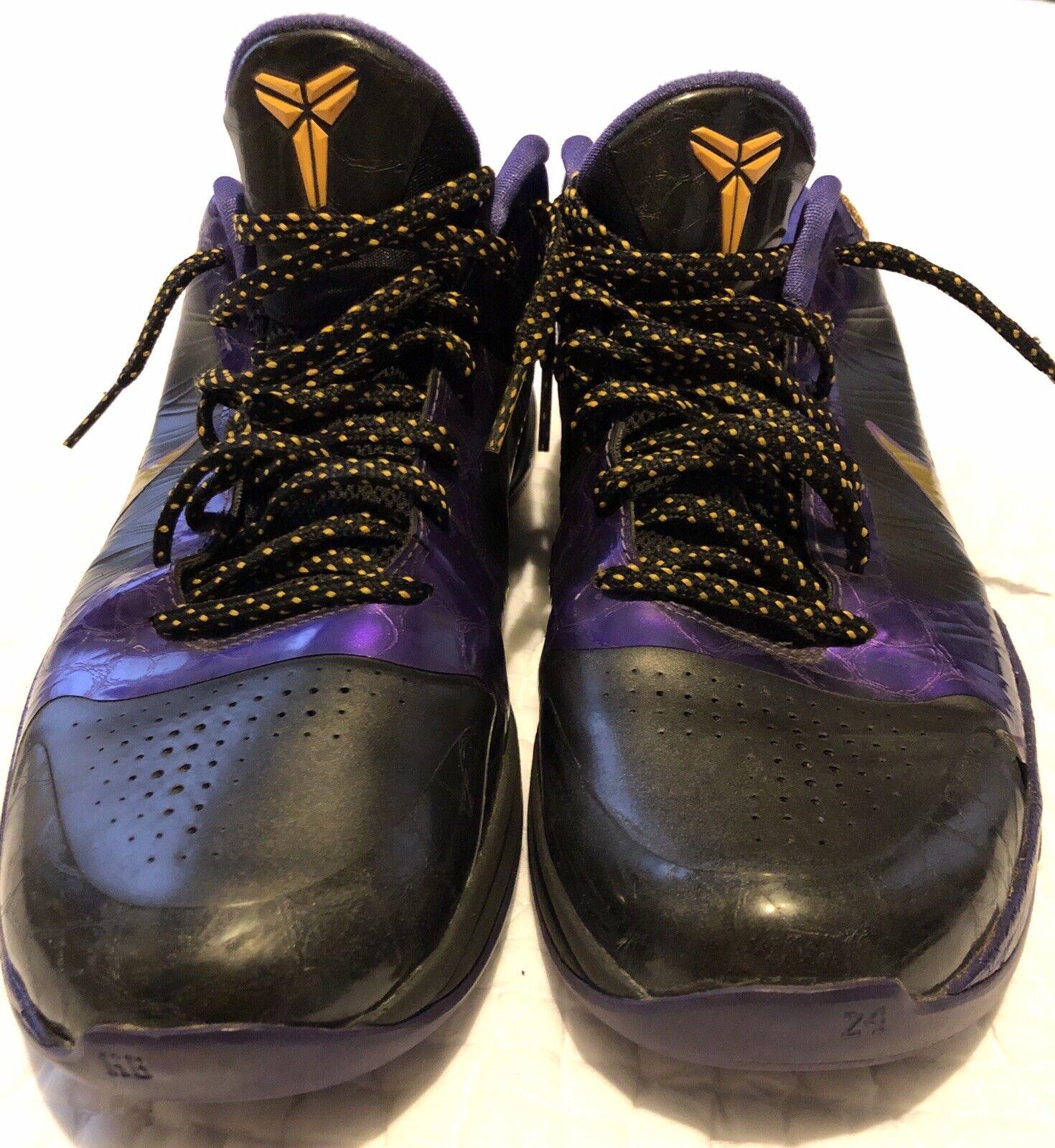 Nike Zoom Kobe 5 V Black Del Sol Varsity Purple Lakers, size 10.5
