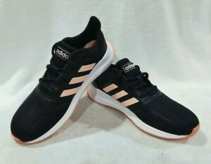 adidas Girl's Runfalcon K Black/Peach Running Shoes - Size 5 NWB ...