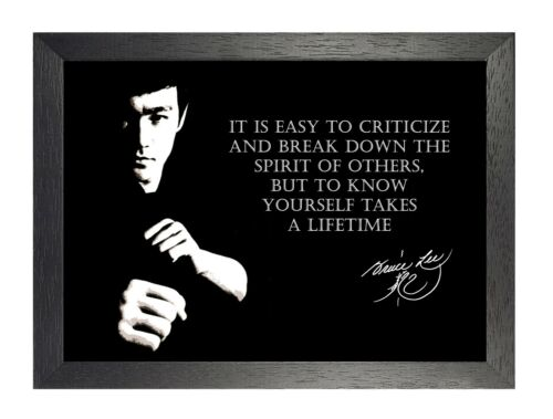 Bruce Lee Criticise Hong Kong American Actor Film Martial Arts Quote Poster