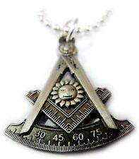 Past Master Square Compass Masonic Freemason Masonry Lodge Pendant Necklace