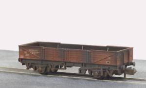 Peco-NR-7EW-N-Gauge-BR-Bauxite-Tube-Wagon-Weathered