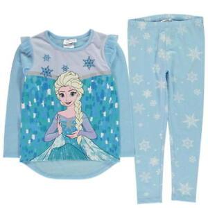 744b74d5f2 La imagen se está cargando Chicas-Disney-Frozen-Elsa-Polar-Pijama -Conjunto-Ropa-