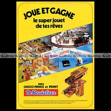 DE BEUKELAER Biscuits avec Marklin Playmobil Barbie 1981 Pub Publicité Ad #A269