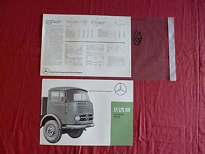 Zelfverzekerd G / Mercedes Prospectus En Français Camion Lp/lps 338 Novembre 1960