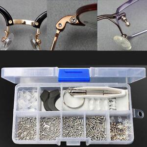 Eyeglass-Sun-Glasses-Optical-Repair-Tool-Assortment-Kit-Screw-Nut-Nose-Pad-Set