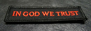 IN GOD WE TRUST USA TACTICAL MORALE 3.75 INCH MILITARY HOOK PATCH (MTG4)