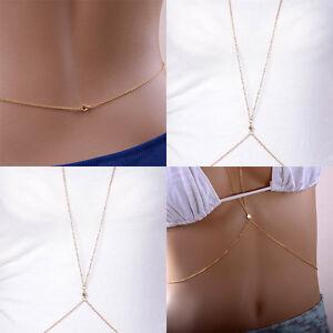 Sexy-Gold-Body-Belly-Waist-Chain-Bikini-Beach-Harness-Charm-Shiny-Star-Necklace