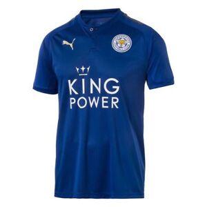 c6907630d1d50 La imagen se está cargando Leicester-City-Futbol-Camisa-Azul-Adulto-Camiseta -de-
