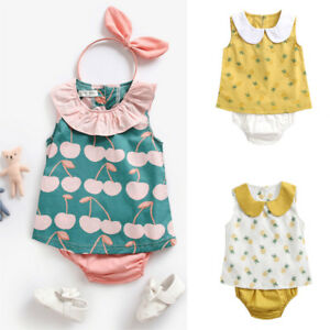 Toddler-Infant-Baby-Kids-Girls-Pineapple-Tops-Shirt-Pants-Outfits-Clothes-Set