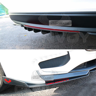 Canard Rear Diffuser Front//Rear wing Body Kit for CHEVROLET 17-18 Malibu 1.5L