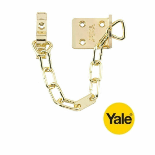B-WS6-20-EB YALE SECURITY DOOR CHAIN IN POLISHED BRASS FINISH